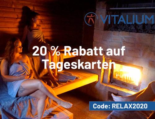 VITALIUM – 20% Rabatt auf Tageskarten