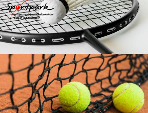 Mehr Infos zu Tennis und Badminton
